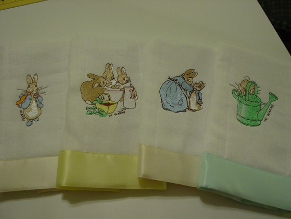 Beatrix Potter's Peter Rabbit baby burp cloths