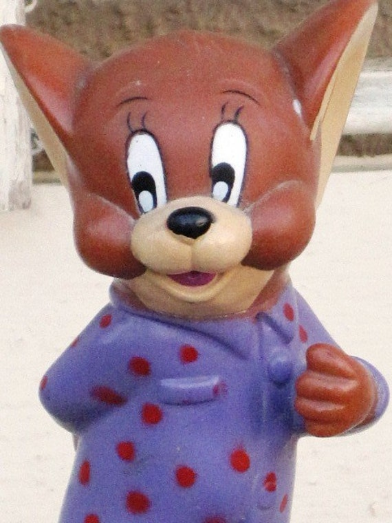 Vintage Toothbrush Holder JERRY THE MOUSE Toothbrush Holder Tom and Jerry