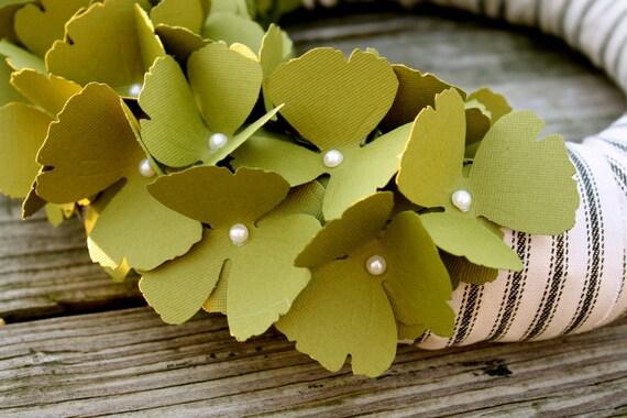 Оливково-зеленый потертый шик Венок