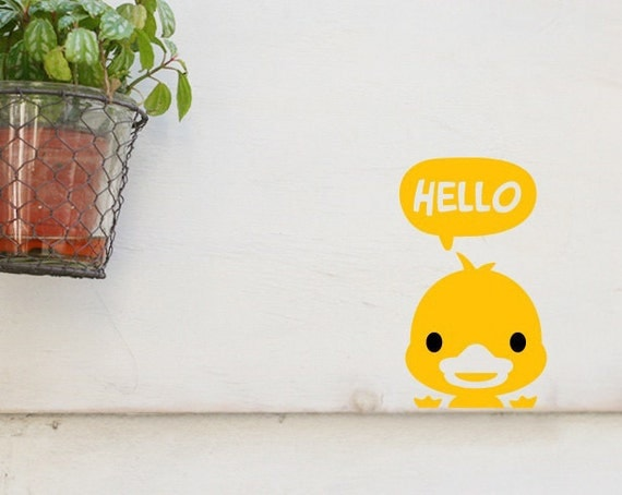 Hello Duck - Wall Decals Sticker