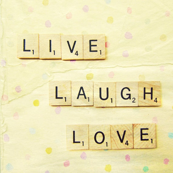 Live Laugh Love Inspirational Photography Art 8x8 Print