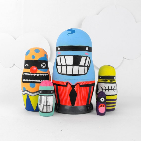 Nesting Dolls Matryoshka Babushka ' Little Monsters '