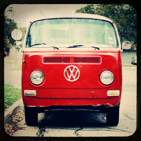 Red VW Bus - Fine Art Photograph