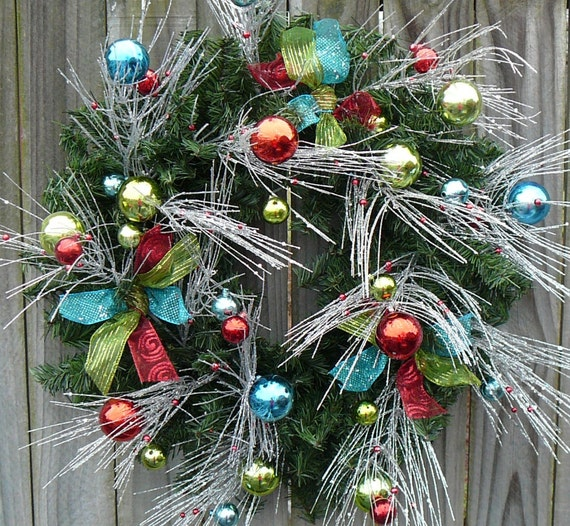 christmas wreath, holiday wreath, unique wreath, christmas decor, holiday decor