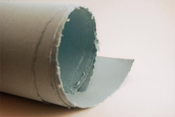 Turquoise Handmade Paper Sheets