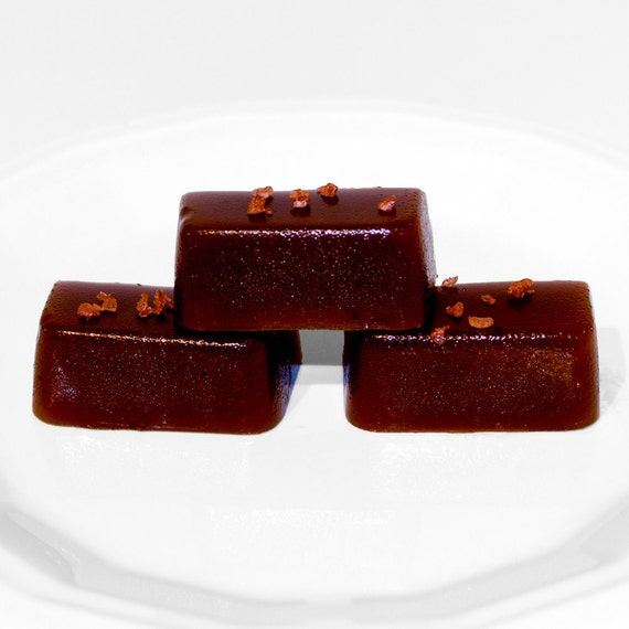 Vegan Molasses Caramels - Rich and Creamy Salted Caramels - Great Idea for Valentines Day - 1/4 pound