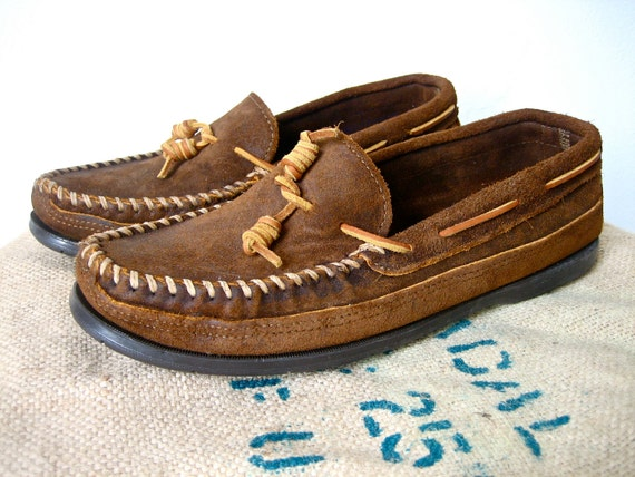 Vintage Leather Minnetonka Moccasins Mens 10.5