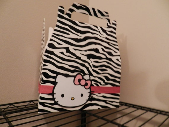 Zebra print hello kitty box