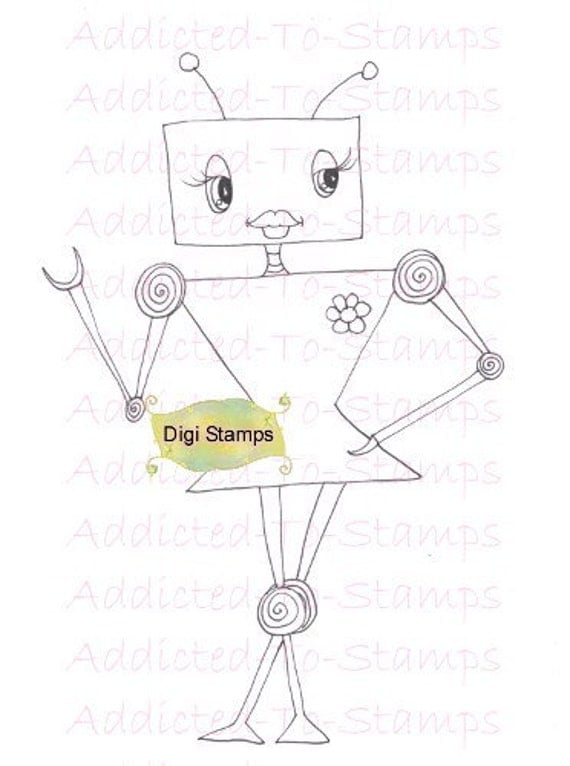 Girly Lollie Botz Digi Doodle Download U Color Downloads Sherri Baldy