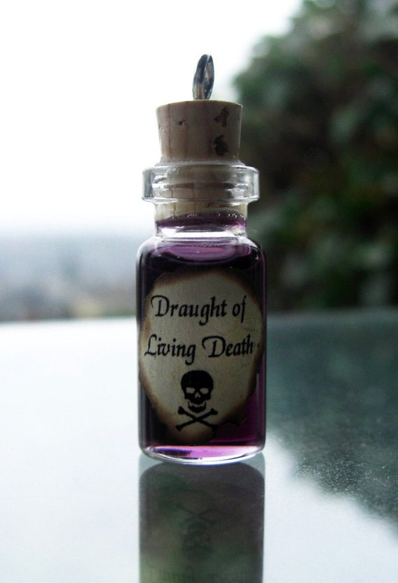 Draught of Living Death - Harry Potter Potion and Ball Chain