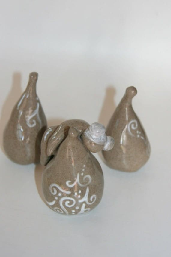 Three Pear Set Ceramic decoration