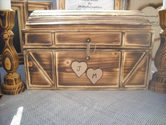 Wedding card box for your Rusticwoodlandout doorchicwoodsycountry