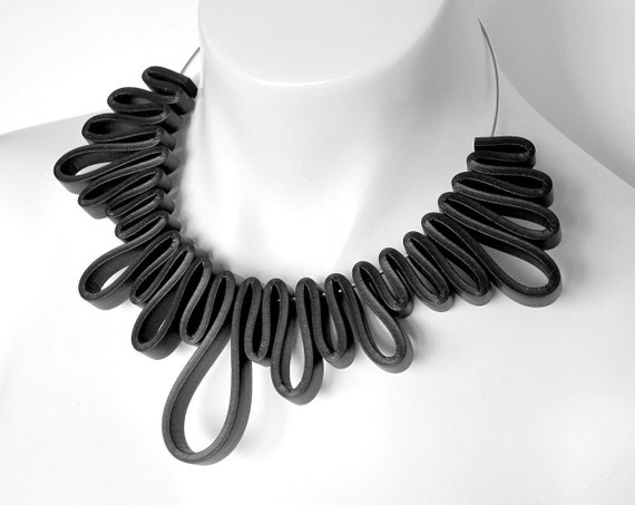 Rubber Necklace, Rubber Jewelry, Geometric. Modern Jewelry, Rubber Jewellery,  Avant Garde