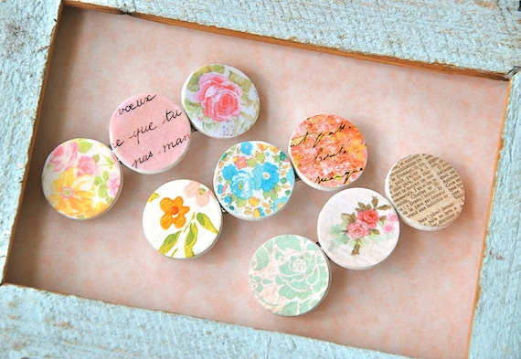 Shabby chic romantic barrette. Your choice. Tiedupmemories
