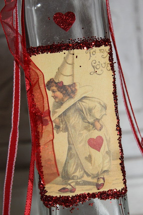 Adorned Valentine Bottle