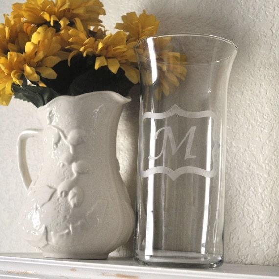 Monagrammed Vase