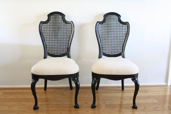 Custom Vintage Black Chairs