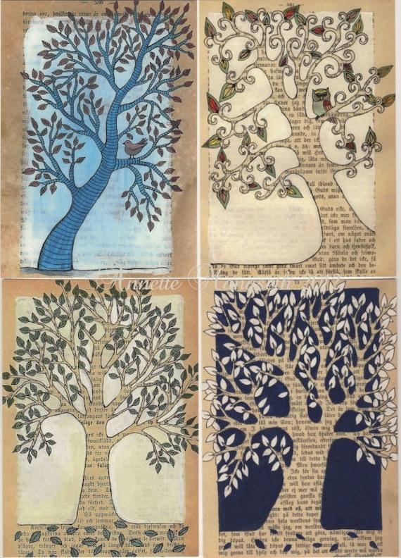 Postcard set - Trees