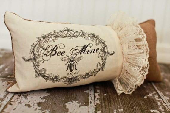 Bumble 'Bee' Mine- Valentine pillow