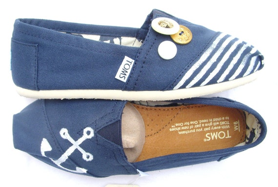 The Navy - Navy and White Custom TOMS