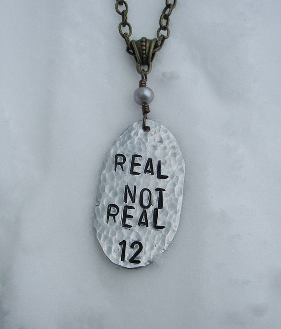 The Hunger Games Inspired Real Not Real Necklace With Fresh Water Pearl