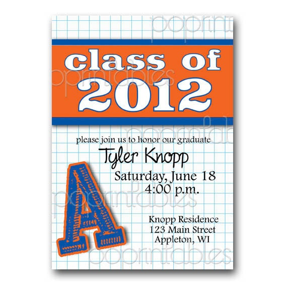 School Colors Graduation Party Invitation