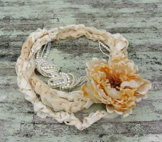 Романтический чай окрашенных Биб ожерелье Дом свадебной заявление ожерелье антропологии женские ювелирные стиль коттедж шикарный