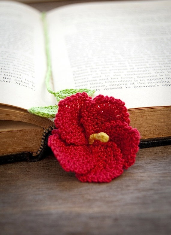 Etsy Treasure Chest Meet Crocheted Hibiscus Flower Bookmark An