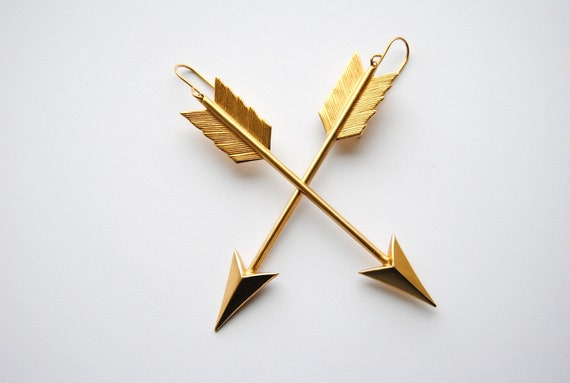 Cupid's Arrow Earrings - Valentines Day Gift 25 and Under - Free Shipping in the US