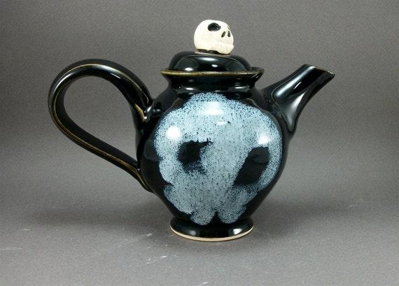 small skull teapot