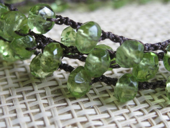 Peridot Wrap Necklace/Bracelet
