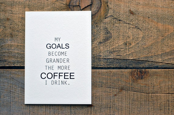 Coffee & Goals Print (5 x 7)