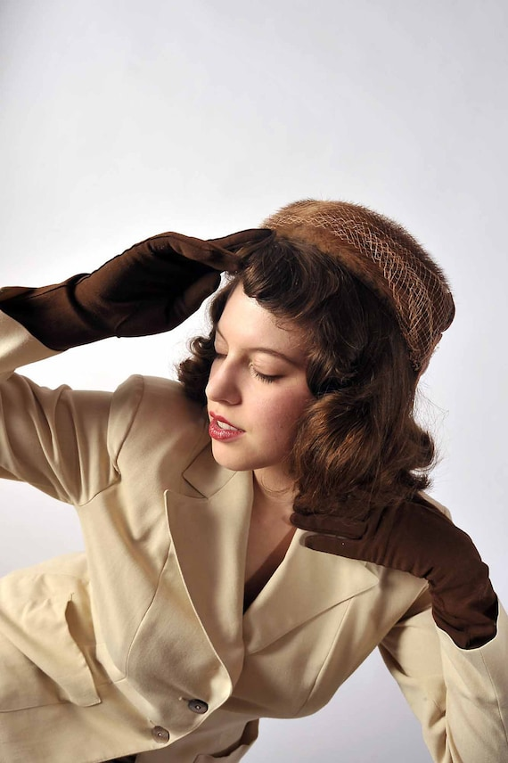 Vintage 1950s Hat // Winter Fashion at Fab Gabs: The November Chill Mink Hat