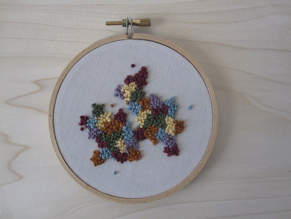 French Knot Embroidery Hoop