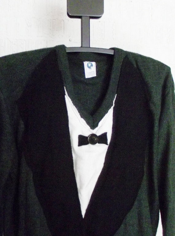 Recycled Sweater Mens Tuxedo in size Large