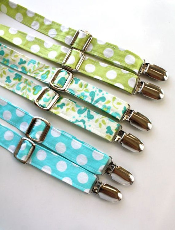 Little Guy Adjustable SPRING EASTER Suspenders  - You pick the fabric  - (All Sizes) - Baby Boy Toddler - Custom Order - Photo Prop