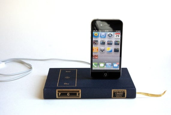Edgar Allen Poe Mini Book Dock Charger for iPhone and iPod