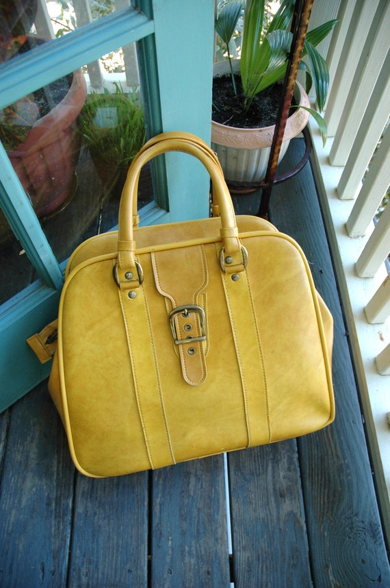soft mustard yellow weekender - tote, bowling bag, suitcase