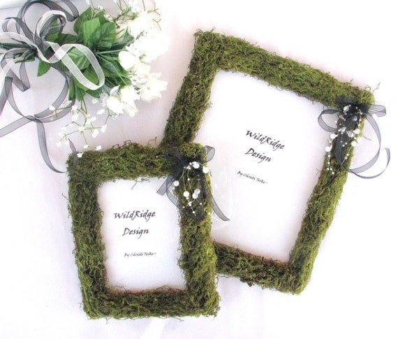 BLACK WHITE Moss Wedding FramesSpring WeddingSummer WeddingNatural