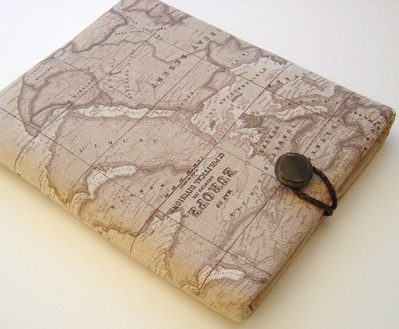 "MacBook cover MacBook Air Sleeve Macbook 11"" World Map Linen"