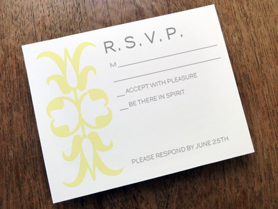 Printable Wedding Response Card Ornament