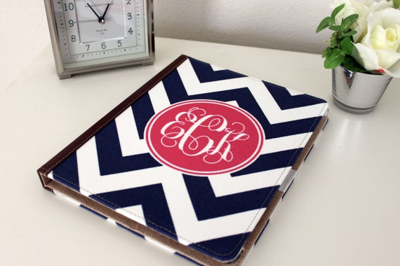 iPad Case iPad Cover Personalized Monogram cover case booklet