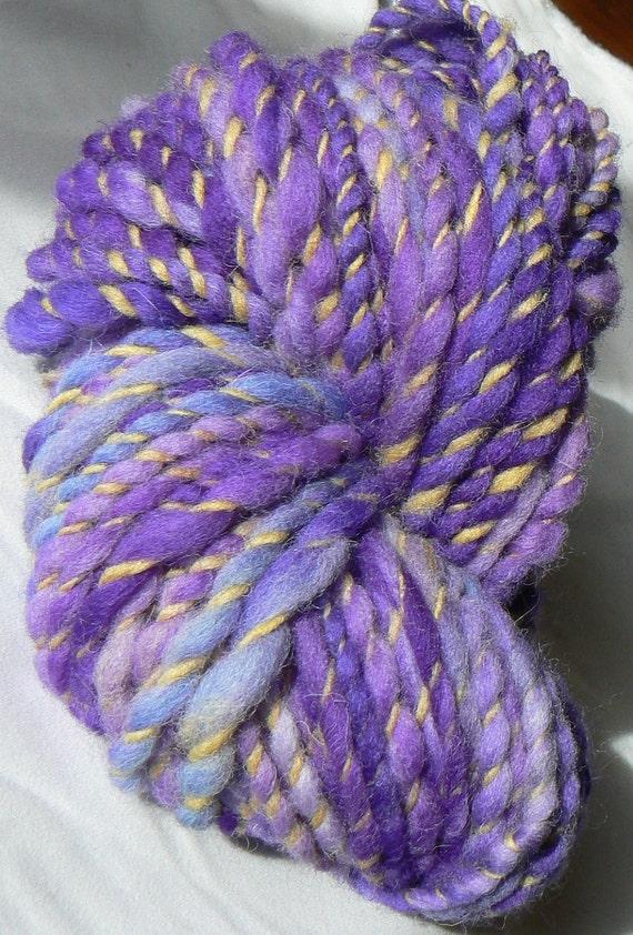 Royal Tara -- Violet and Yellow Irish Handspun Wool Yarn