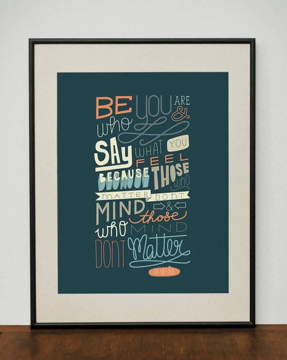 Dr. Seuss Quote 11x14 Art Print