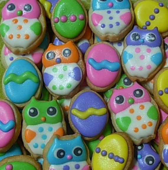 Easter Owls Mini Sugar Cookie Bites - 3 Dozen