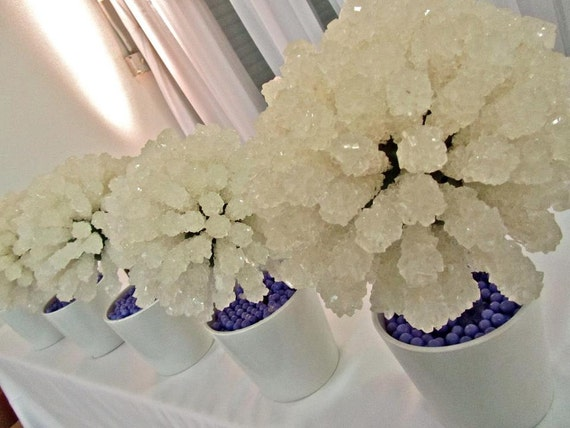 Rock Candy Centerpiece Topiary Tree, Candy Buffet Decor, Candy Arrangement Wedding, Mitzvah, Party Favor, Edible Art