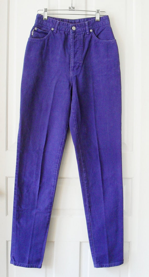 Royal Purple BONGO classic high waist Jeans tapered skinny leg with button fly