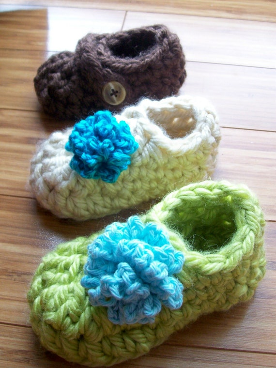 Toddler's Warm Crochet Slipper PDF Pattern Sizes 3-8  Boys or Girls