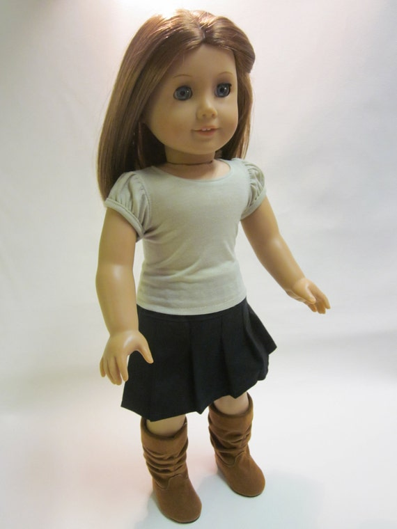 18 inch American Girl Doll Clothes - Skirt- T-shirt