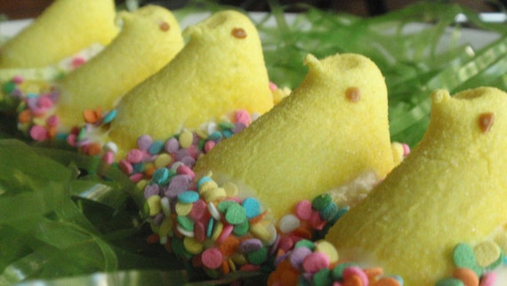 Easter Candy: Chocolate Covered Marshmallow Peeps